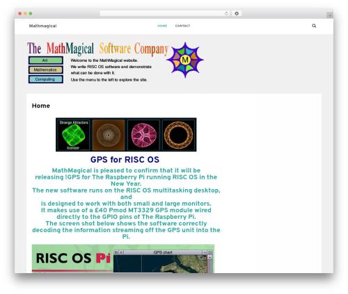 Satrah WordPress theme - mathmagical.co.uk