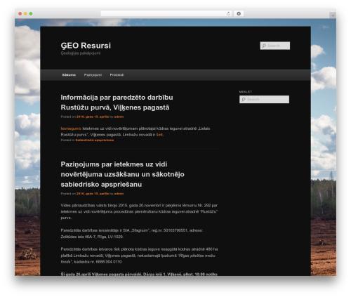 Twenty Eleven WordPress template free - georesursi.lv