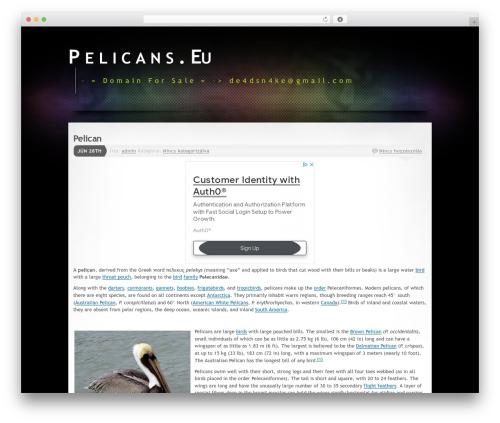 WordPress theme Mystique 2 - pelicans.eu