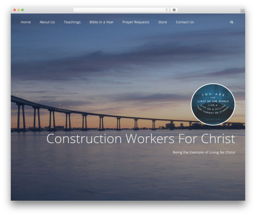 Adonis WordPress page template - constructionworkersforchrist.com
