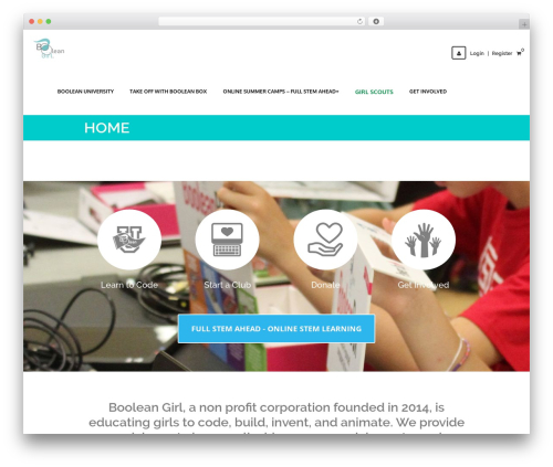 LMS WordPress theme design - booleangirl.org