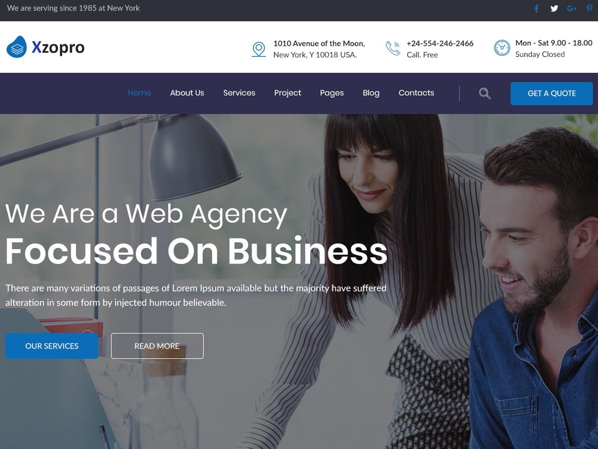 Xzopro WordPress template for business