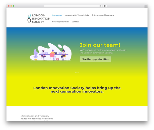 Divi best WordPress template - londoninnovation.org