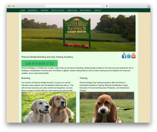 Dynamik WordPress theme - pbkennels.com