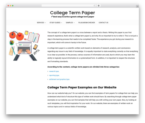 WordPress theme Vihaan Blog Lite - termpapernow.com