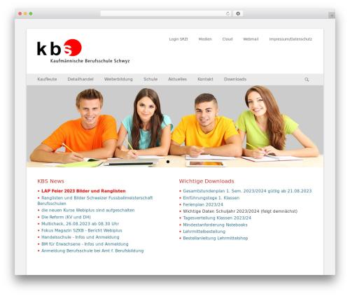 WordPress website template Catch Base Pro - kbs-schwyz.ch