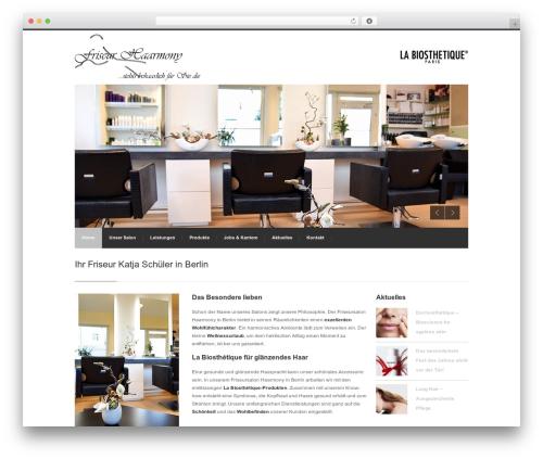 WordPress website template Centum WP - haarmony-friseur.de