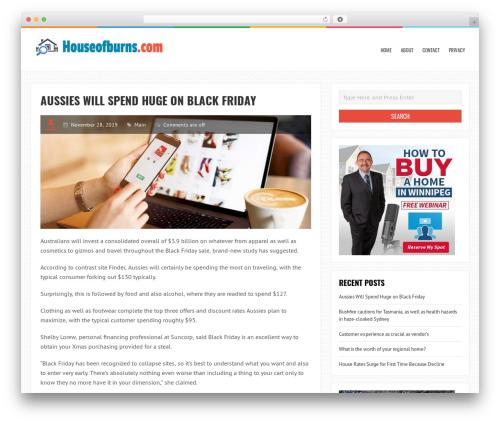 LiveBlog free WordPress theme - houseofburns.com