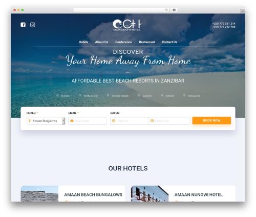 The7 WordPress hotel theme - oceangrouphotel.com