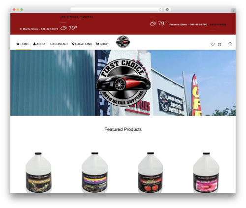 Themify Shoppe best WooCommerce theme - firstchoiceautodetailsupplies.com
