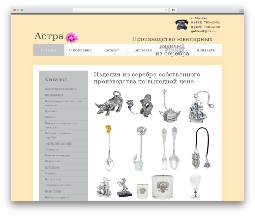 Unity template WordPress - astra925.ru
