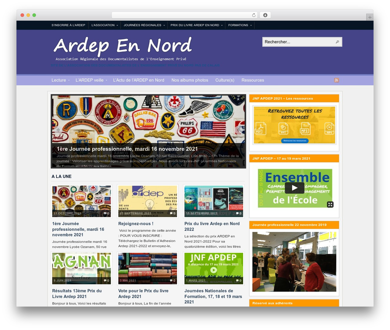 WP theme Arras - ardepennord.asso.fr
