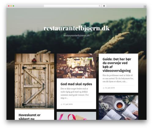 Garfunkel WordPress template for business - restaurantelbjoern.dk