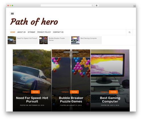 Infinity Mag WordPress theme - pathofhero.com