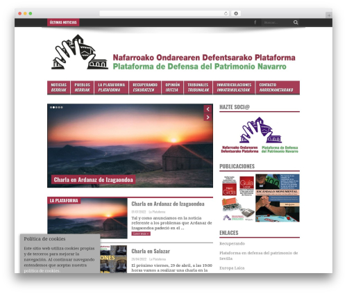 Jarida WordPress theme - plataforma-ekimena.org