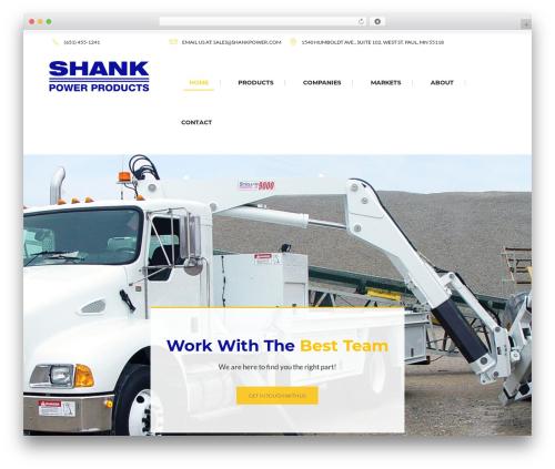 Tanj WordPress page template - shankpower.com