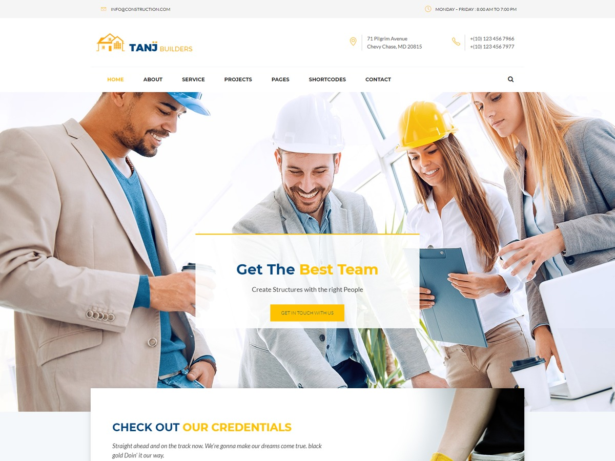 Tanj WordPress website template
