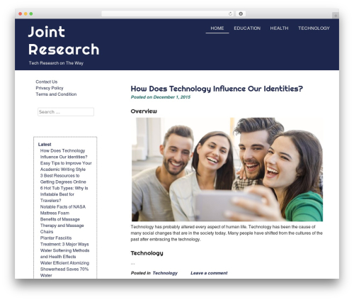 Theme WordPress eyesite - joint-research.org