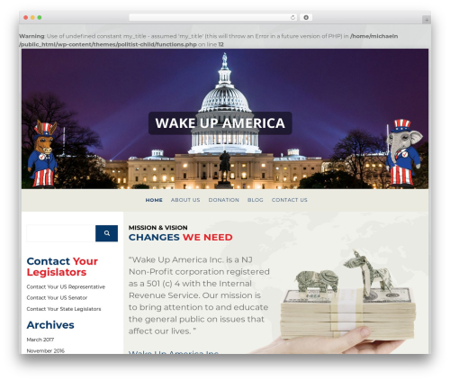 WordPress theme Politist - wake-up-america.org