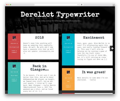 Fara WordPress template free - derelicttypewriter.net