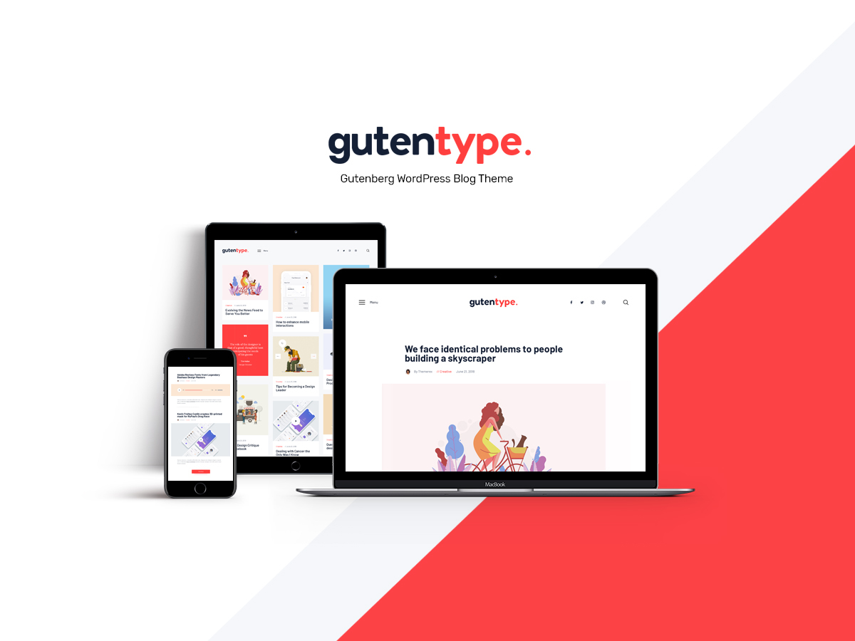 GutenType Child Theme WP theme