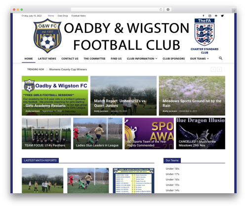 Newspaper best WordPress magazine theme - oadbyandwigstongirls.co.uk