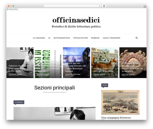 Newspaper WordPress magazine theme - officinasedici.org