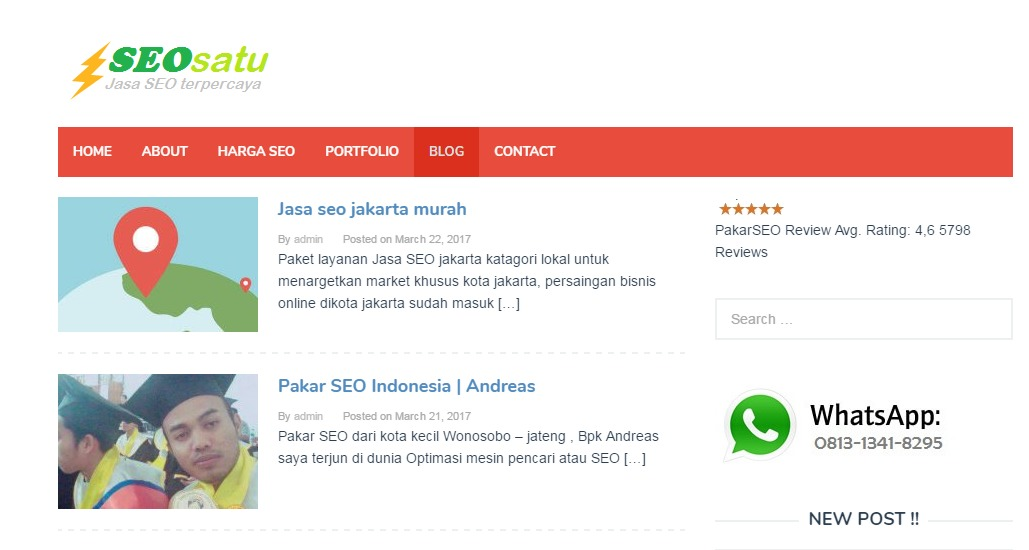 Seosatu WP WordPress blog template