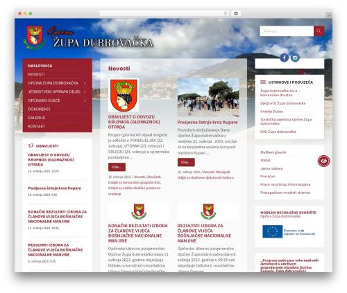 TownPress WordPress theme - zupa-dubrovacka.hr