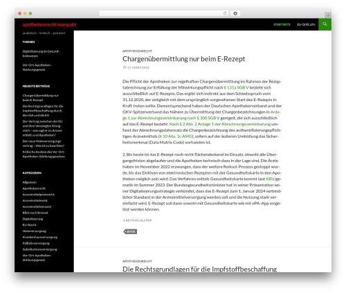 Free WordPress Subpagelister plugin - apothekenrecht-kompakt.de