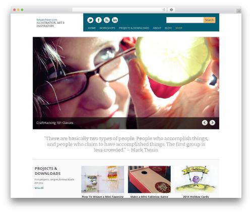 Yasmin WordPress theme - katyatchison.com