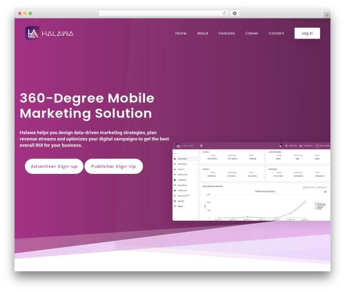 Appart template WordPress - halawaweb.com