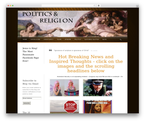 Best WordPress theme Wake - politicsnreligion.com