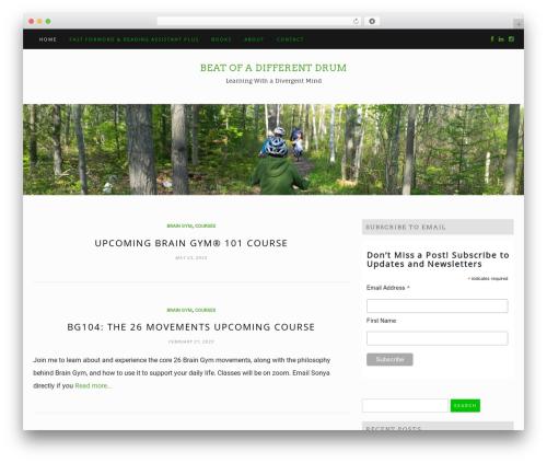 Di Blog WordPress blog template - beatofadifferentdrum.com