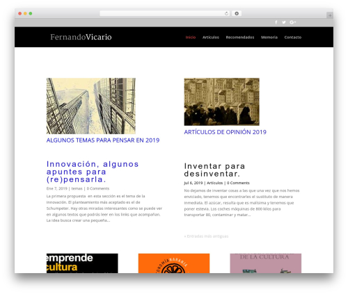 Divi theme WordPress - fvicario.com
