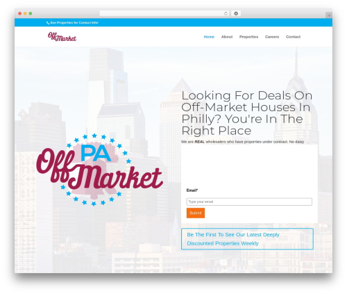 Divi WordPress theme - paoffmarket.com