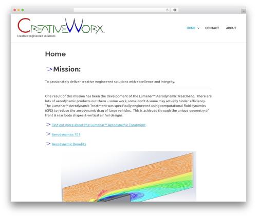 Poseidon best WordPress theme - creativeworx.engineering