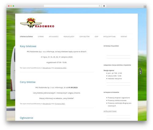 Twenty Twelve template WordPress free - pksradomsko.pl