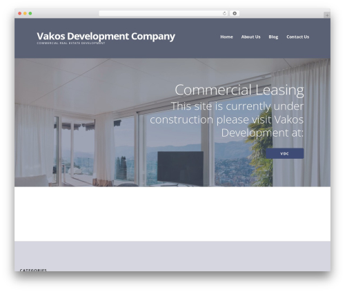 Ascension business WordPress theme - vakosdevelopmentcompany.com