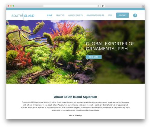 Bridge template WordPress - southislandaquarium.com