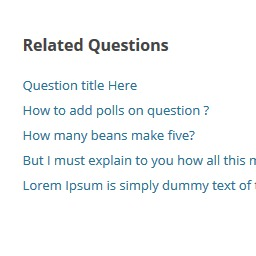 Free WordPress Question Answer – Related Questions plugin by pickplugins