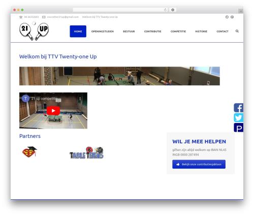 jupiter WordPress theme - 21-up.nl