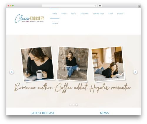 Minim WordPress theme - clairekingsleybooks.com