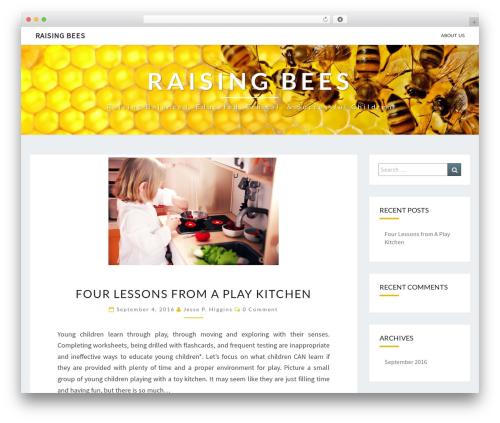 Nisarg free WordPress theme - raisingbees.org