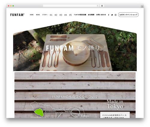 WordPress website template BLANK Theme - funfam.jp