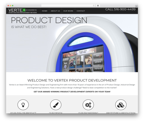 WP Omnia WordPress template for business - product-development.us