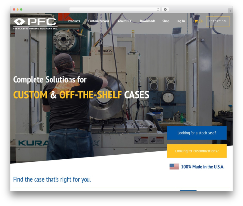 (a)n Foundation business WordPress theme - pfccases.com