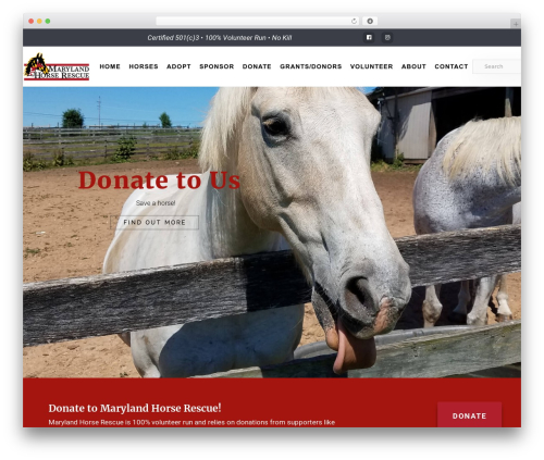 Deep top WordPress theme - mdhorserescue.net
