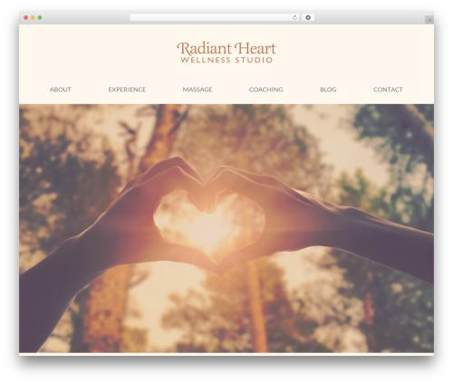 Jupiter massage WordPress theme - radiantheartwellnessstudio.com