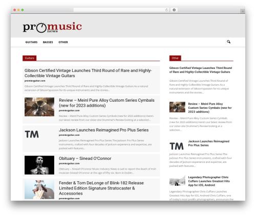 Newspaper WordPress theme design - promusic.news